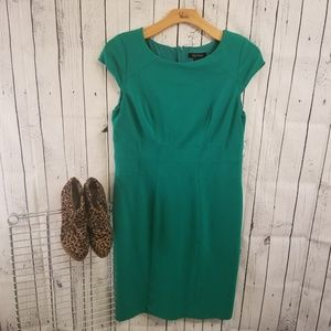 White House Black Market Emerald Green Dress (16)
